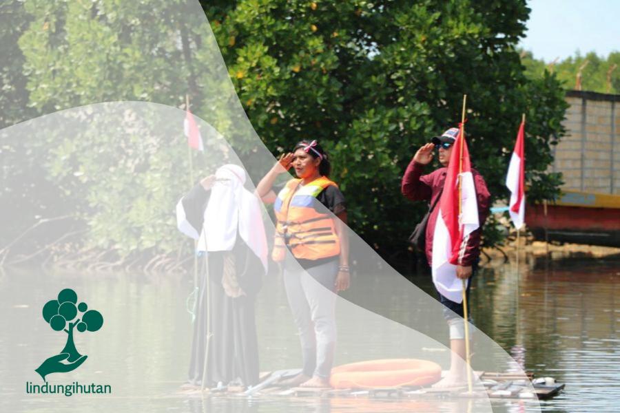 Hari Kemerdekaan Indonesia di Hutan Mangrove Papua
