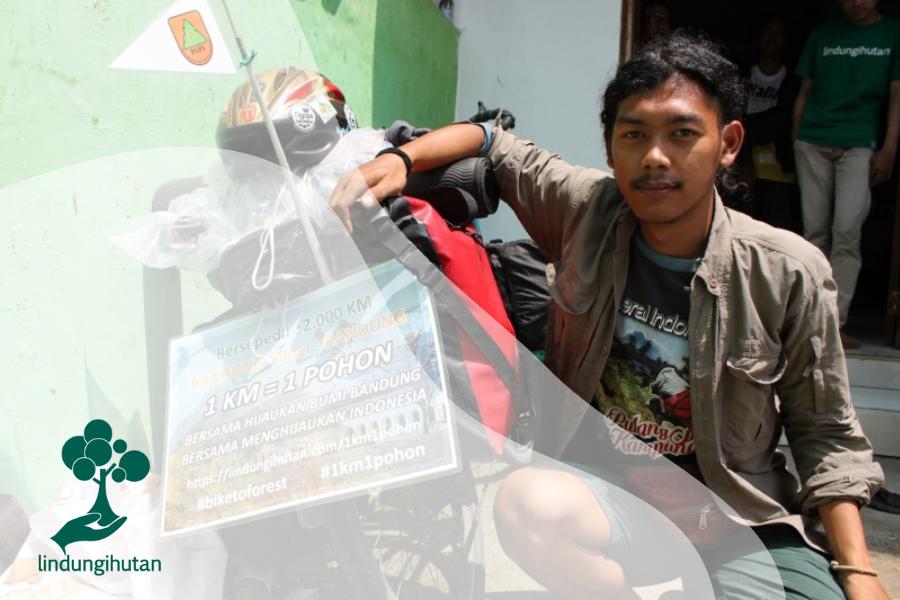 Kang Maman, Bersepeda untuk Harapan Hutan