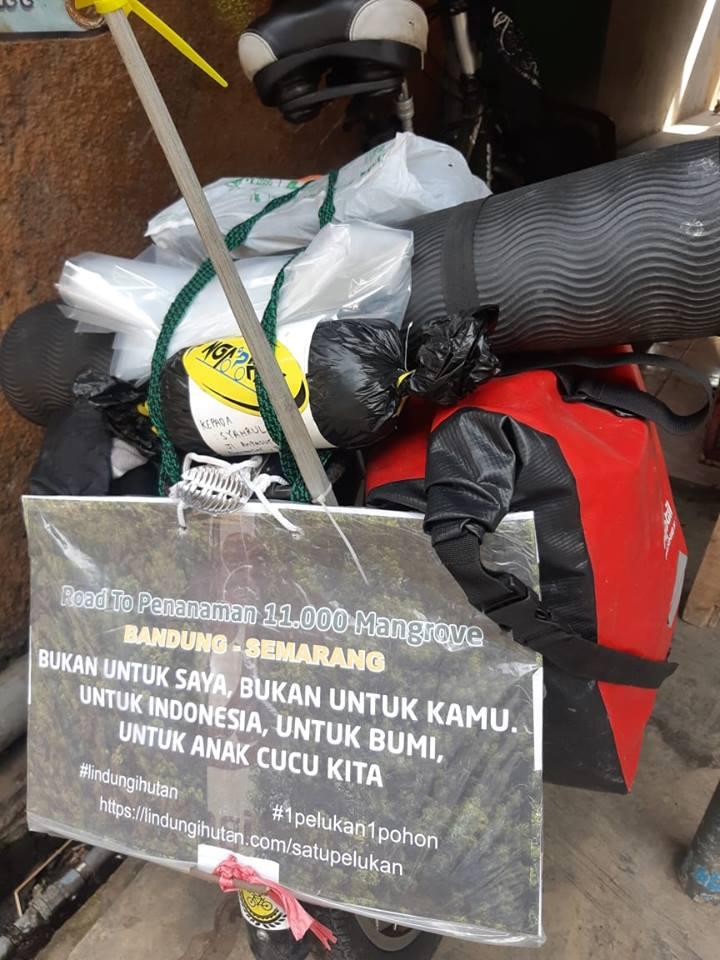 Kang Maman dan Semangatnya Gowes dari Bandung ke Semarang
