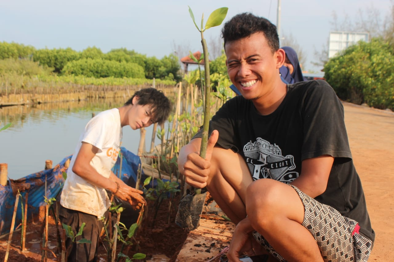 Relawan GREAT Indonesia Menanam Mangrove