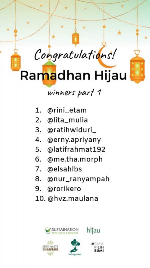Grafis: Pemenang Ramadhan Hijau Periode 1