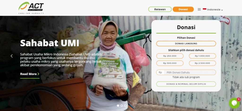Aksi Cepat Tanggap Platform Crowdfunding for Helping People Around You