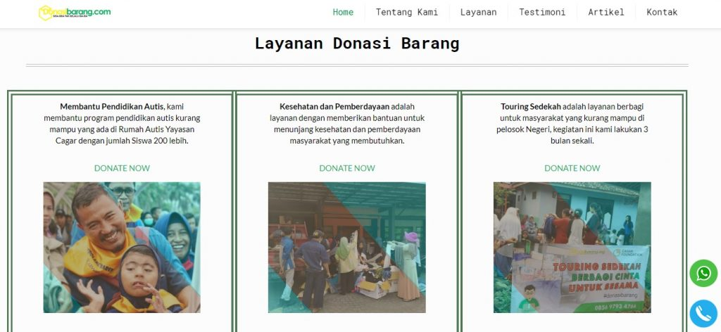 DonasiBarang Let you Sent Your Package to Others