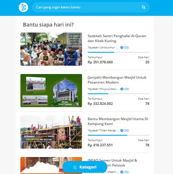 KitaBisa Platform Crowdfunding for Helping People Around You