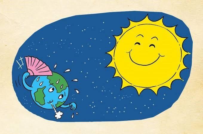 Ilustrasi Posisi Matahari dan Bumi di Luar Angkasa