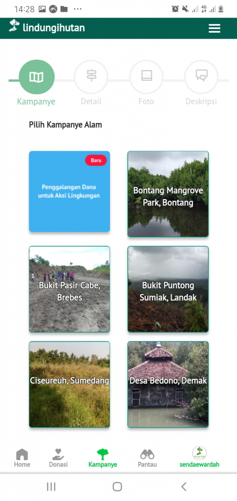 Lokasi Penanaman Kampanye Alam