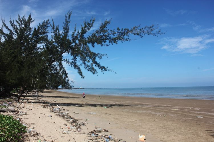 Gambar 1. Abrasi di Pantai Kayu Angin