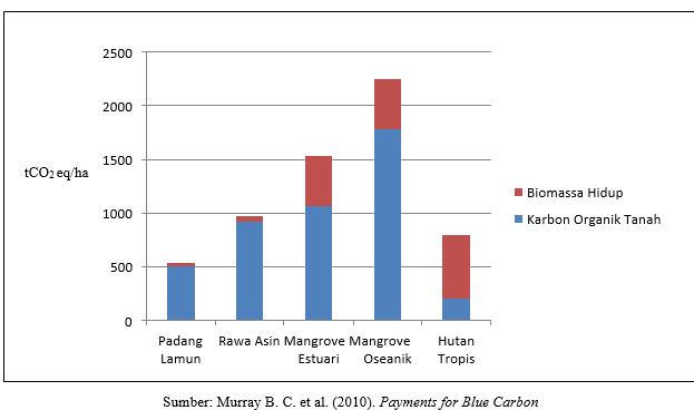 Sumber: Murray B. C. et al. (2010). Payments for Blue Carbon