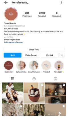 Media Sosial Terra Beaute © Instagram terrabeaute_