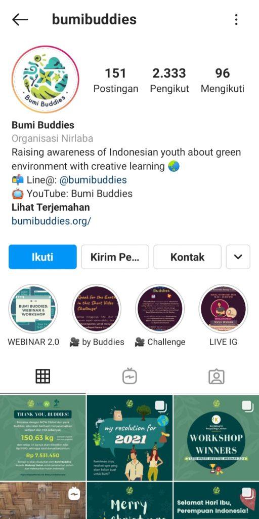 (Instagram Bumi Buddies)