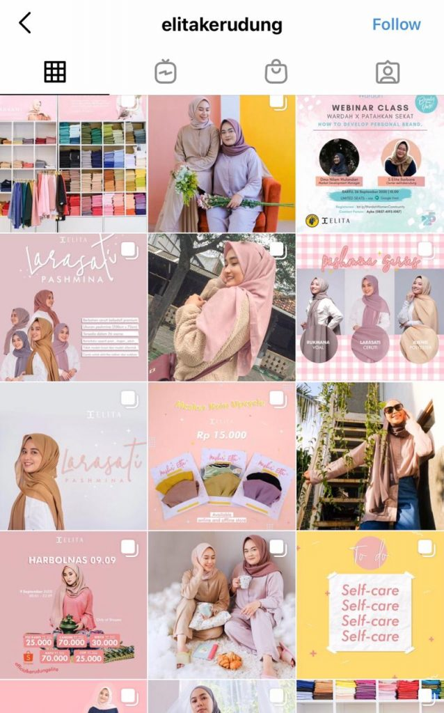 Sosial Media Instagram Elita Kerudung © @elitakerudung