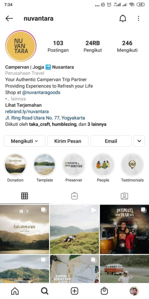 Media sosial © Instagram nuvantara