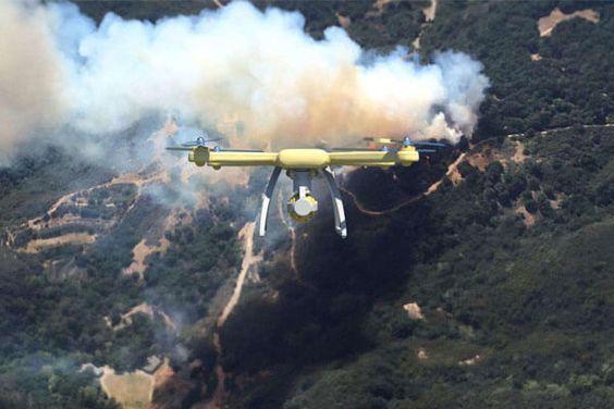 Gambar 2. Drone Memantau Sumber Api © Welkinuav.com
