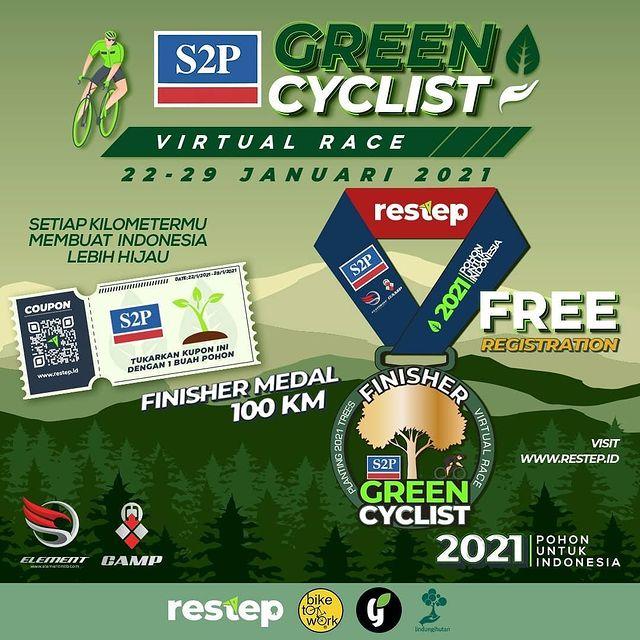 Green Cyclist Virtual Race oleh Restep © @restep.id