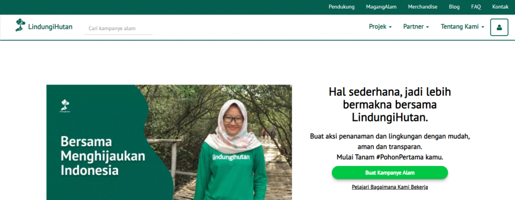 Website LindungiHutan, Platform Galang Dana untuk Konservasi Hutan