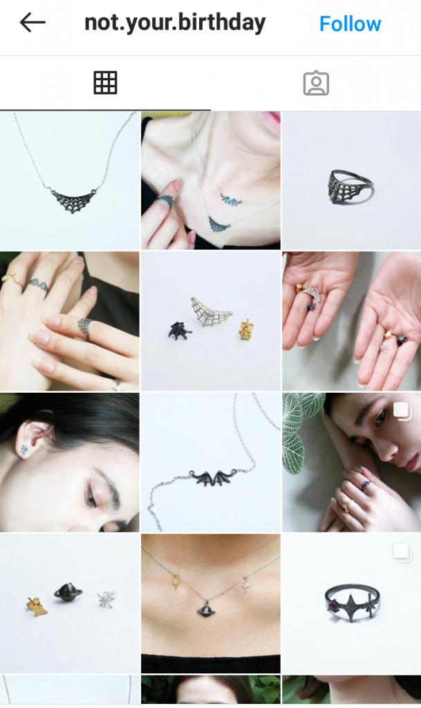 Akun Instagram Not Your Birthday Jewelry