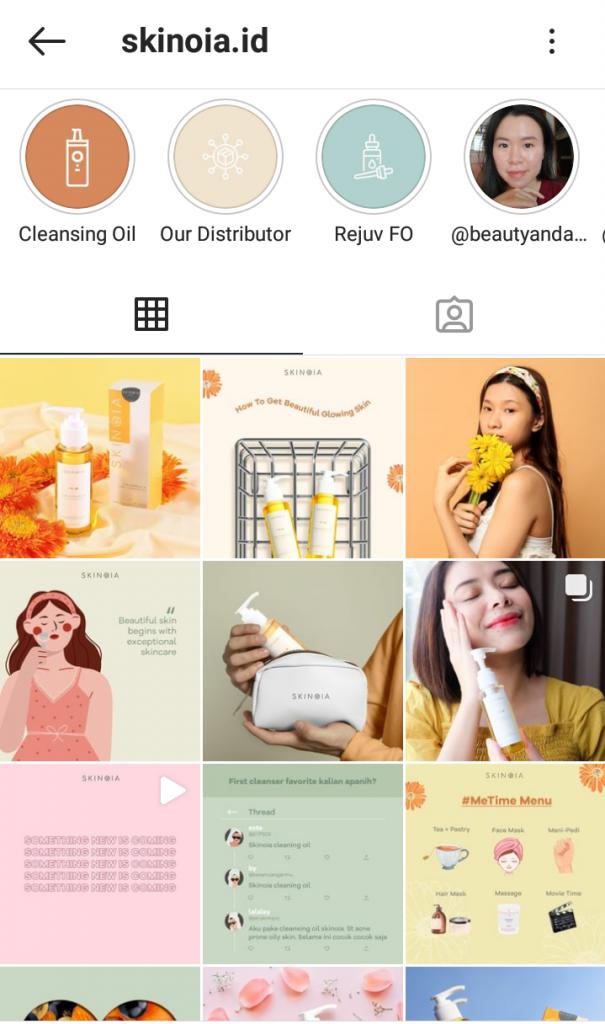 Akun Instagram SKINOIA