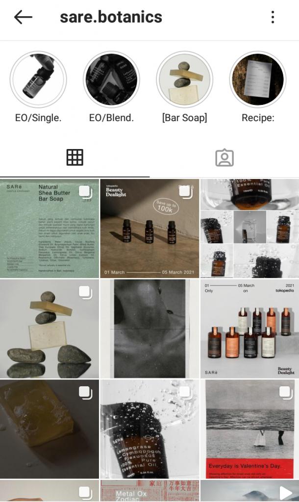Akun Instagram SARe Botanics