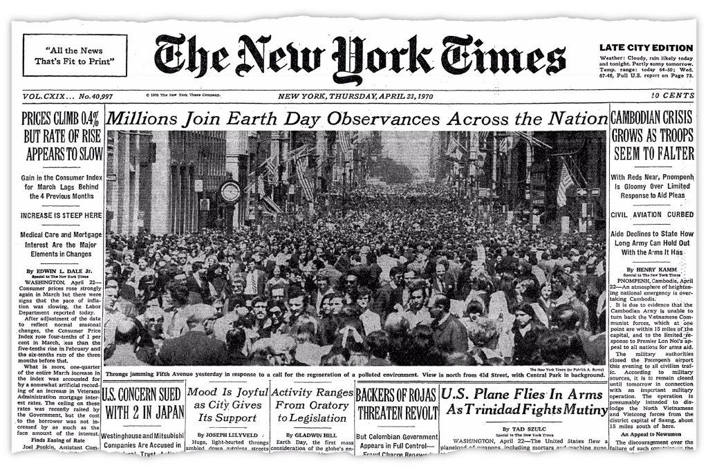Gambar 3 Berita Demonstrasi Earth Day Tahun 1970