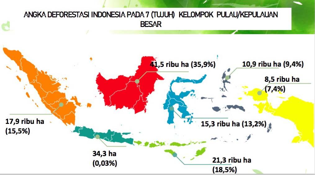 Gambar 4 Angka Deforestasi Indonesia Tahun 2021