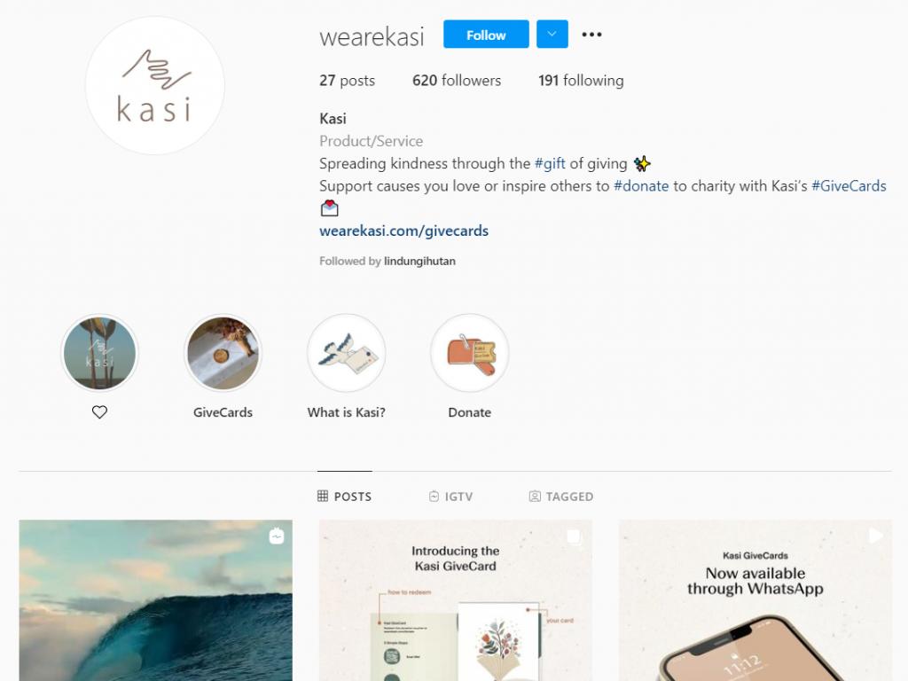Gambar 2 Akun Instagram KASI © Instagram