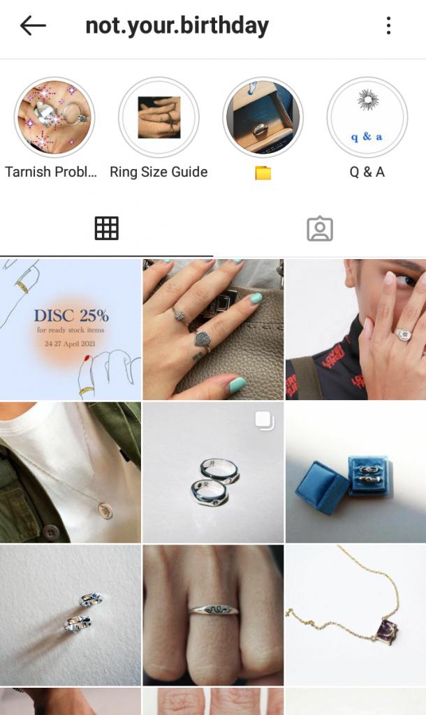 Gambar 2 Akun Instagram NYB Jewelry © Instagram