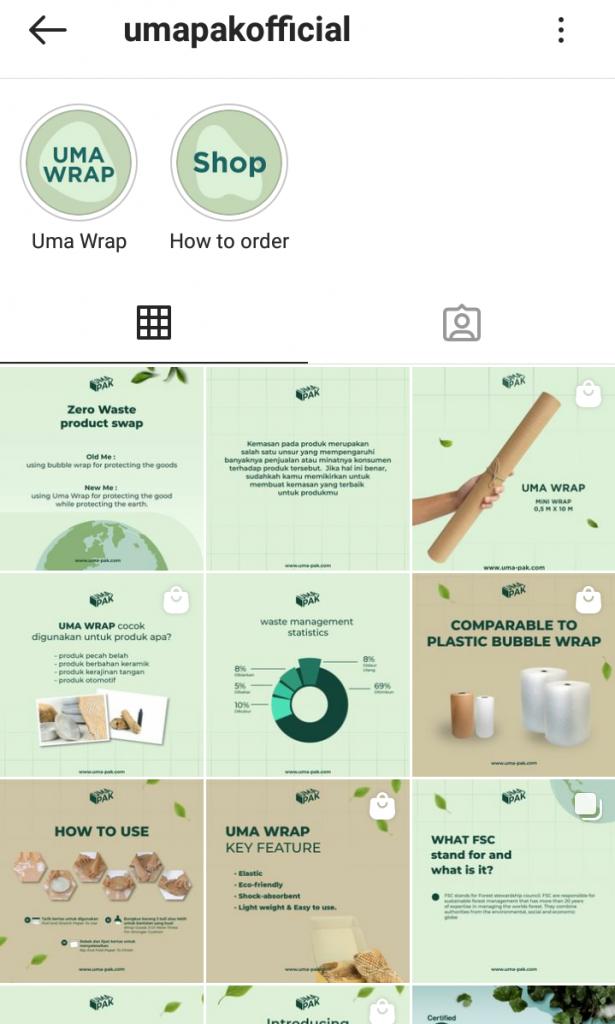 Gambar 2 Akun Instagram UMA PAK © Instagram