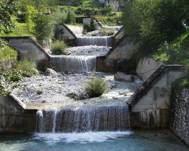 Examples of check dams in the European Alps a evenly spaced sequence of 15m high – Wanaswara
