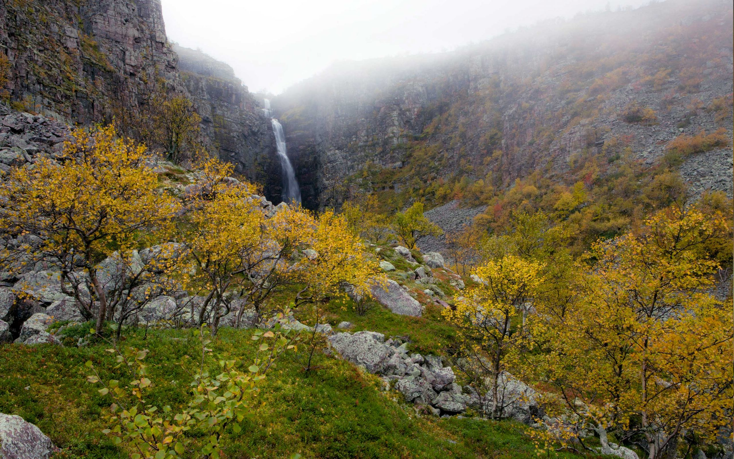 Gambar 3. Taman Nasional Fulufjället dengan Lanskap Air Terjun Tertinggi di Swedia