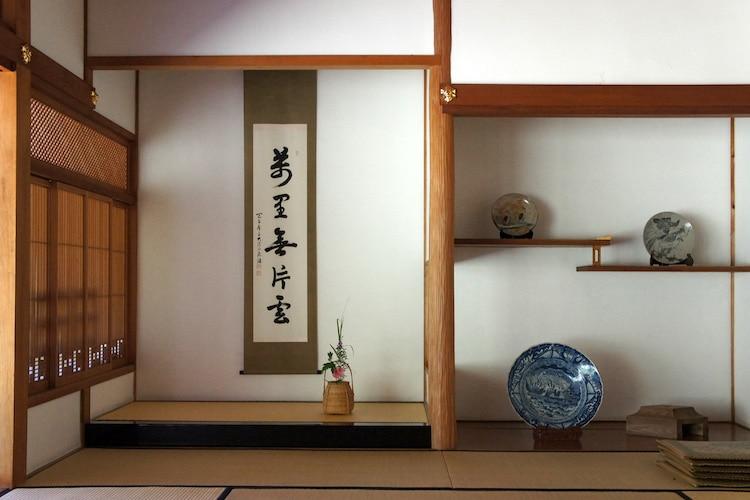 Gambar 4. Ruangan Tokonoma Menggunakan Kayu Kitayama Sebagai Pilarnya.
