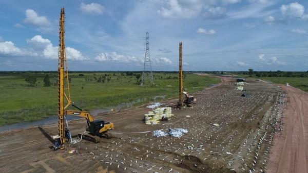 Gambar 2. Infrastruktur proyek pembangunan jalan raya.