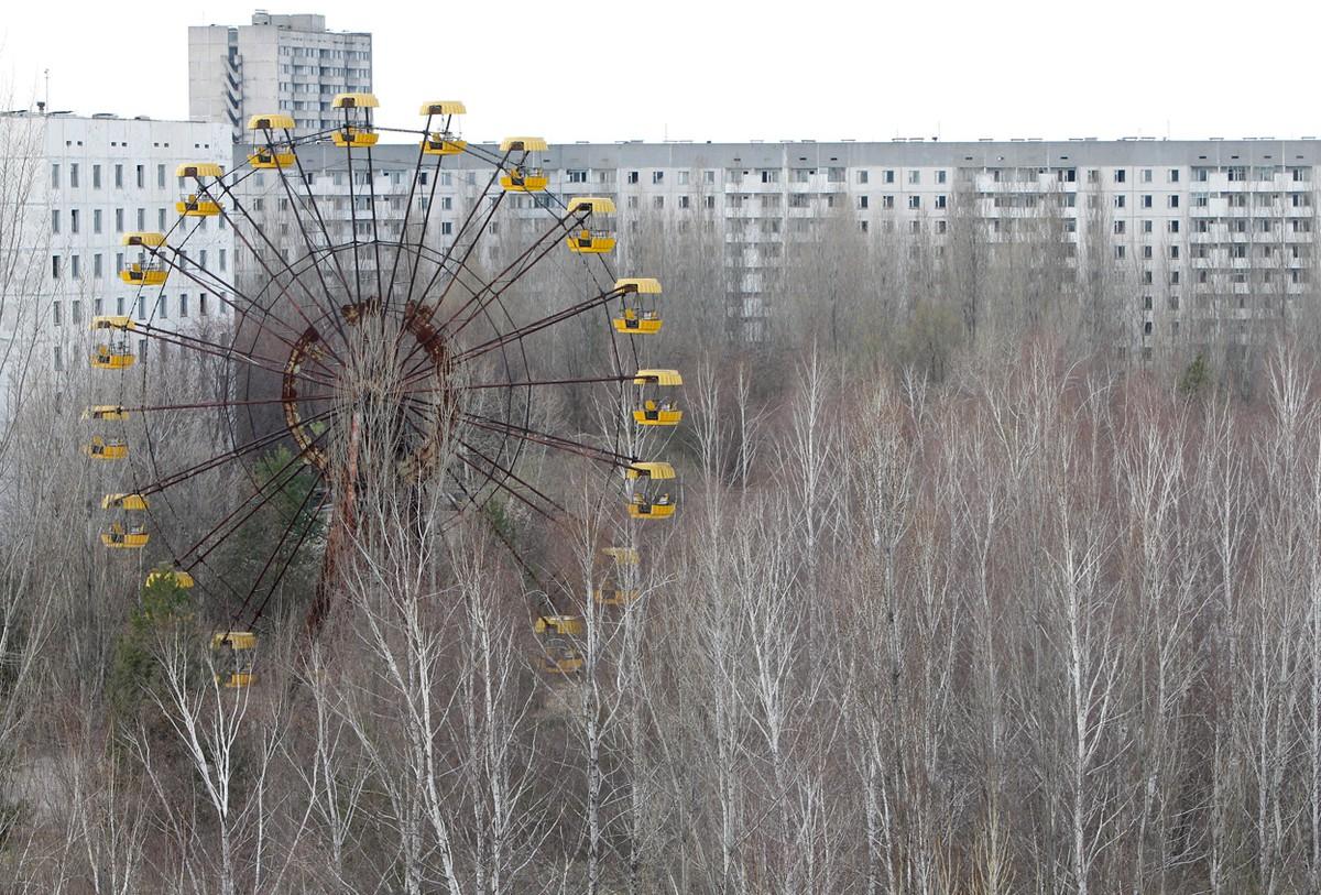 Gambar 8. Kota Chernobyl yang Sudah Kosong Bertahun-tahun Tanpa Manusia.