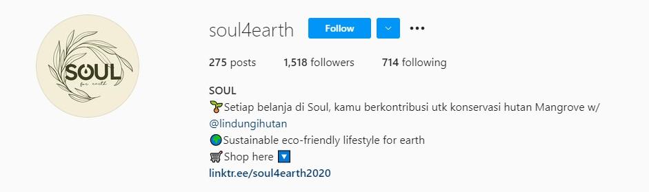 Laman Instagram Soul4Earth ©Instagram